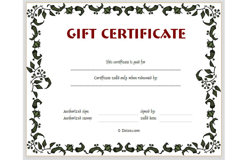 Certificate templates dotxes for Free downloadable gift certificate templates