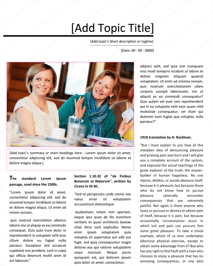 Magazine Template for Microsoft® Word - Page 03