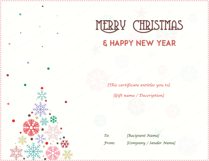Christmas Gift Certificate Templates Editable and Printable Designs – Christmas Gift Certificate Template Free