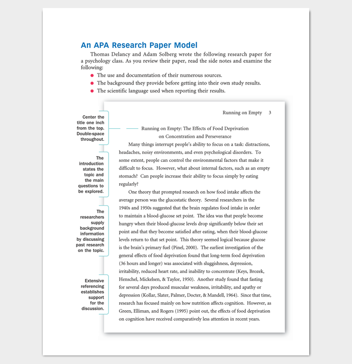 Apa Research Paper Outline Template For PDF