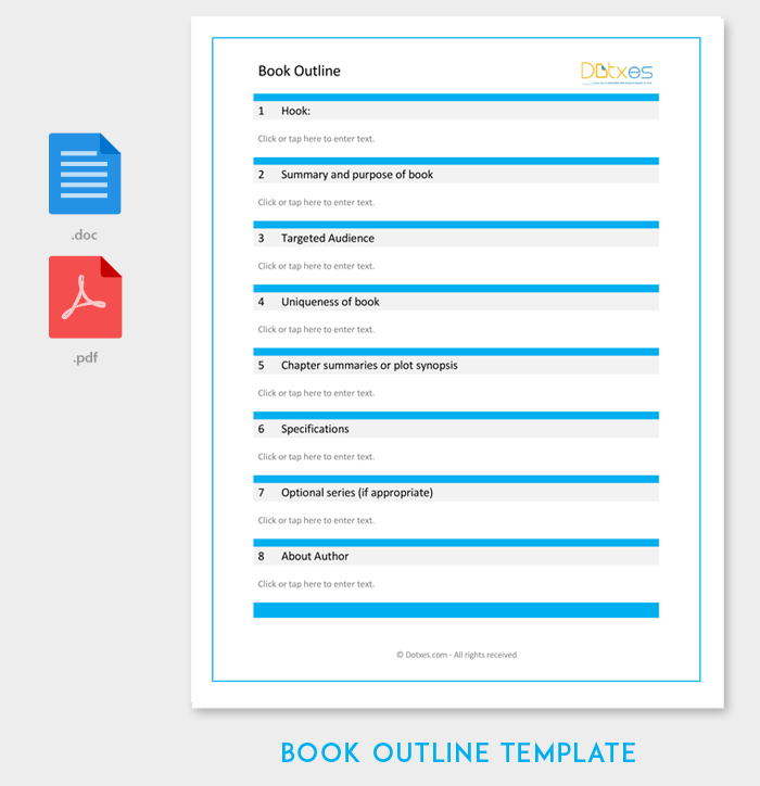 Book Outline Template for Word