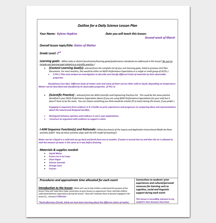 outline of a lesson plan template - lesson plan outline template 23 examples formats and