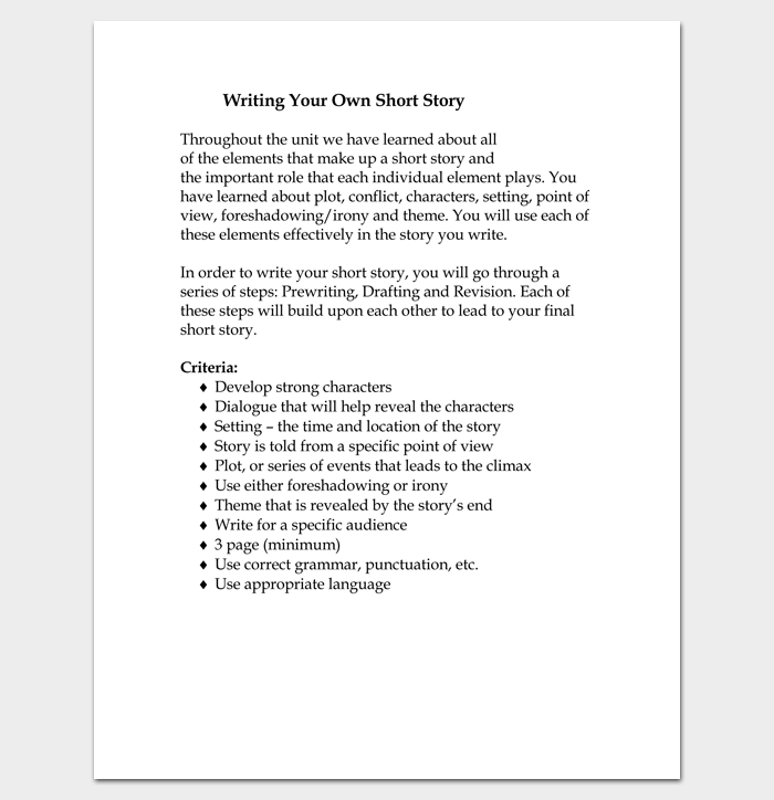 Short Story Outline Template - 7+ Worksheets for Word, PDF Format