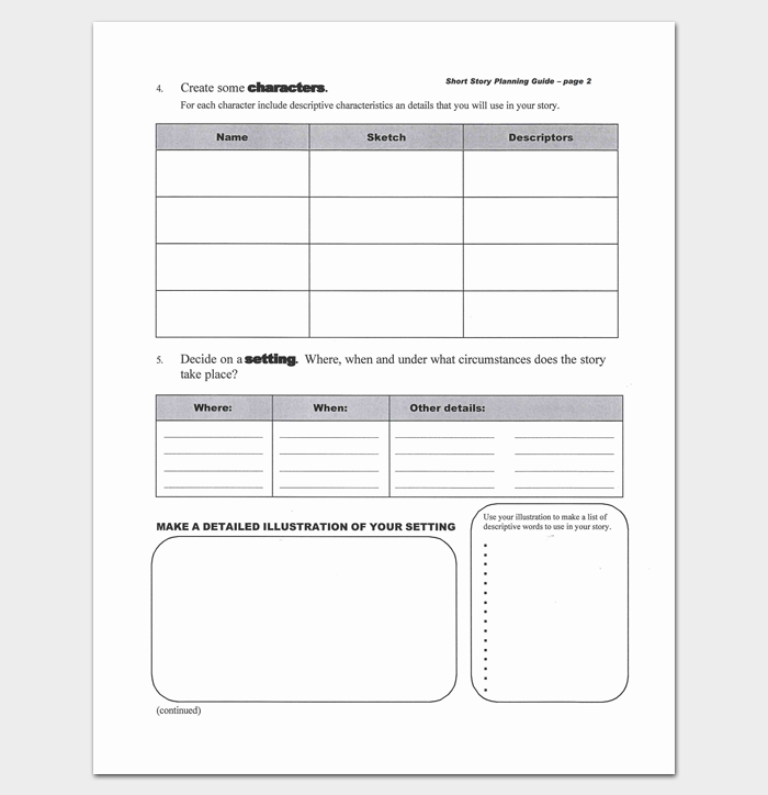 Short Story Template template for writing stories genius – Short Story Analysis Worksheet