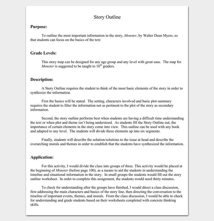 story outline template for kids - number line worksheets setting of a story worksheets
