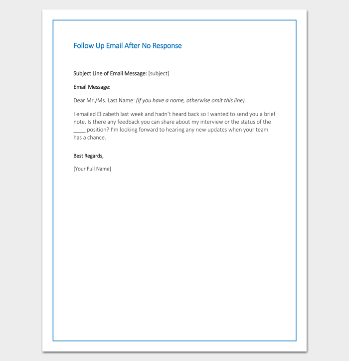 follow up email template for business - follow up letter template 10 formats samples examples