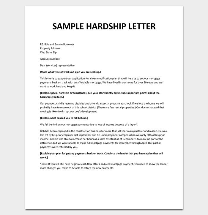 Hardship Letter Template - 10+ For Word, PDF Format