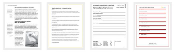 Non-Fiction Book Outline Template - 5+ For Word, Pdf Format - Dotxes
