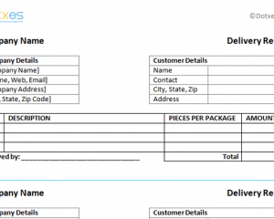 delivery receipt template word .