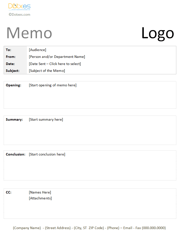 creating a memo - Zoplar.dcbuscharter.co