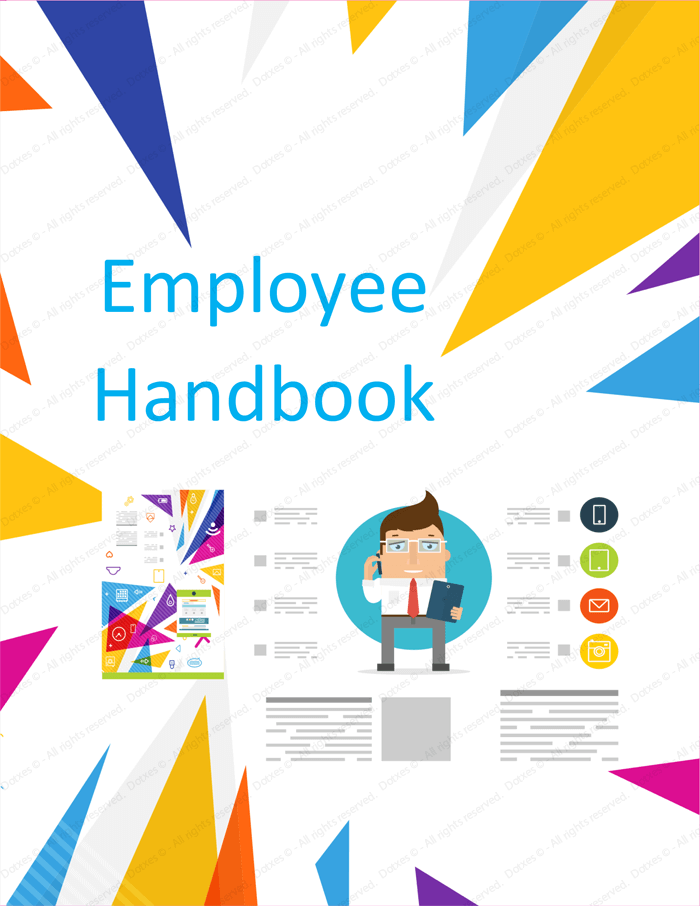 employee handbook cover design template employee handbook template free printable sample