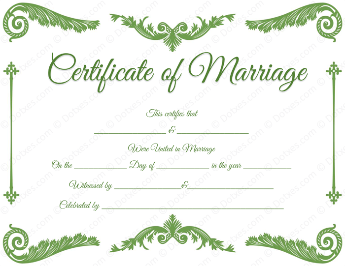 royal corner marriage certificate template dotxes