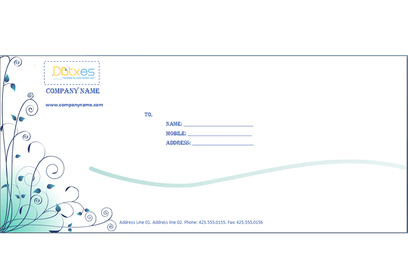 Business envelope template blue design dotxes maxwellsz