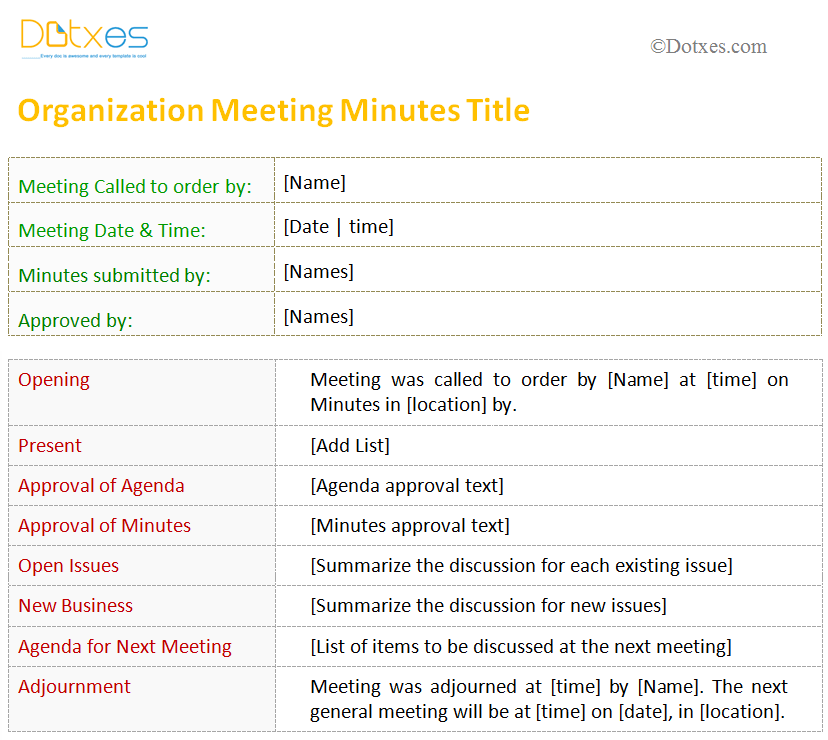 Standard minutes of meeting template image collections for Standard minutes of meeting template