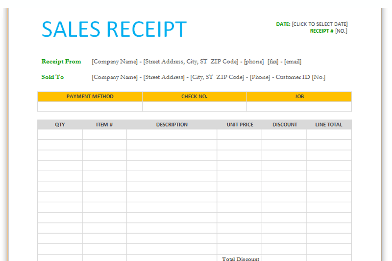 Sales receipt template for word dotxes publicscrutiny Gallery