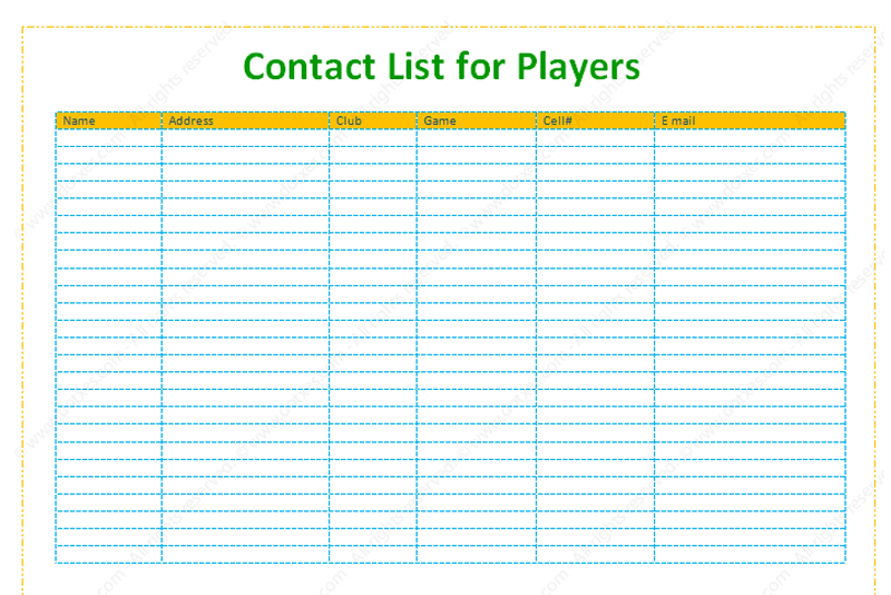 Contact and Phone List Information Template (Featured Image)