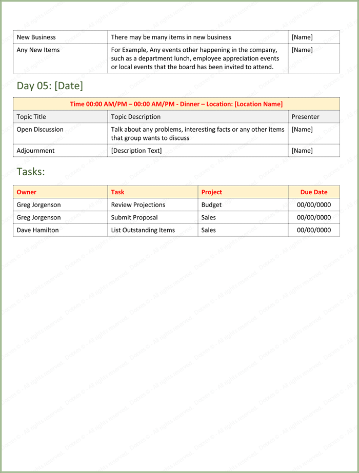 Event Agenda Template Page 02
