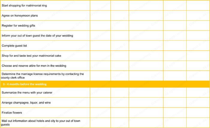 wedding to do list template ideal planning checklist