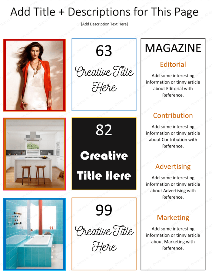 magazine template word