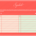 Easy cookbook template