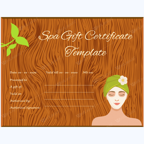 5 spa gift certificate formats to grow business dotxes massage gift certificate format yelopaper