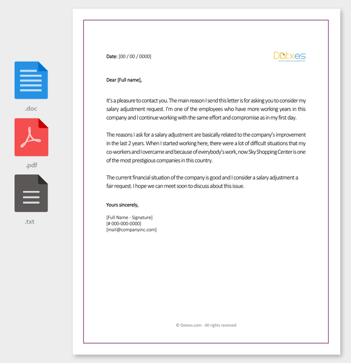 Salary increment letter 14 best printable samples and formats salary adjustment letter sample spiritdancerdesigns Image collections