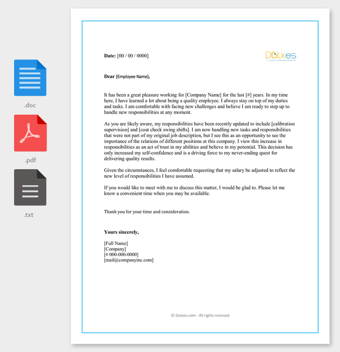 Salary increment letter 14 best printable samples and formats salary increment request letter format expocarfo Gallery