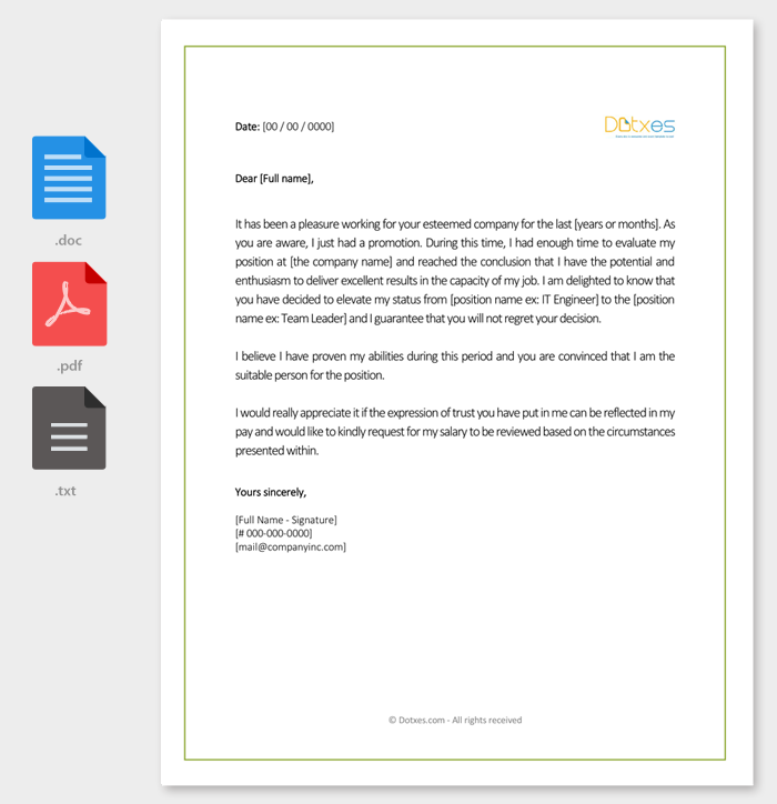 Salary increment letter 14 best printable samples and formats salary increment request letter sample altavistaventures Choice Image