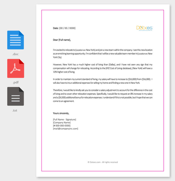 Salary increment letter 14 best printable samples and formats sample salary increment letter to boss spiritdancerdesigns