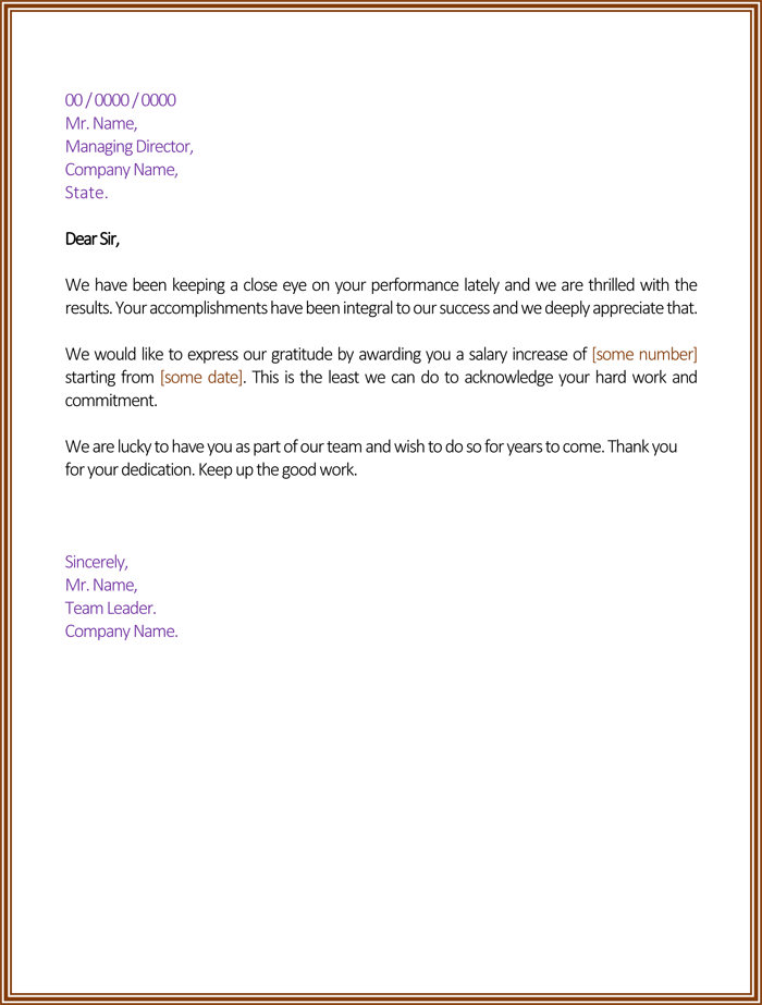 raise request letter