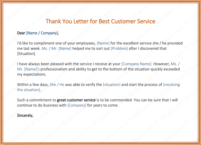 letter appreciation customer service customer thank you letter 5 best samples and templates 18469 | Customer Service Thank You Letter