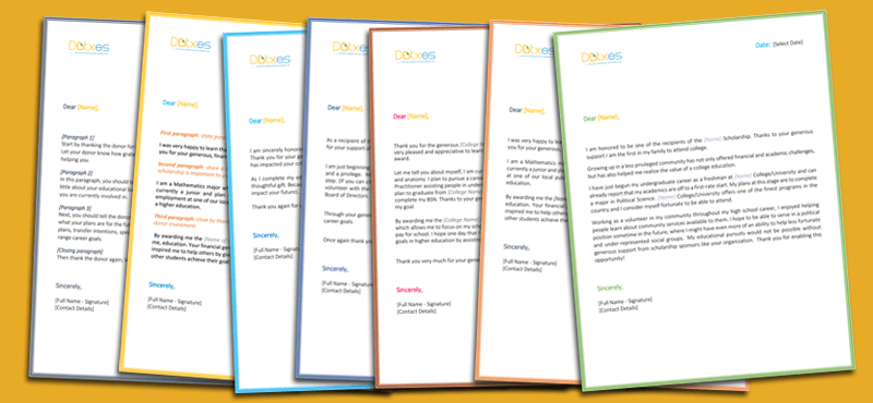 Scholarship Thank You Letter Samples and Templates