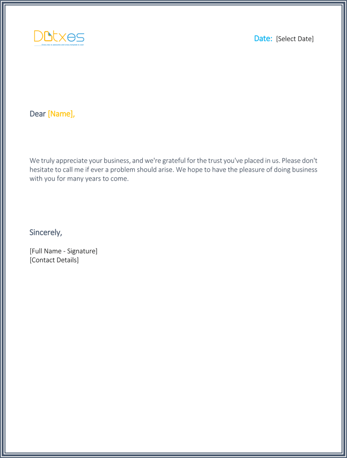 Thank you for your support letter best sample letters you should send thank you for your support letter for a business expocarfo