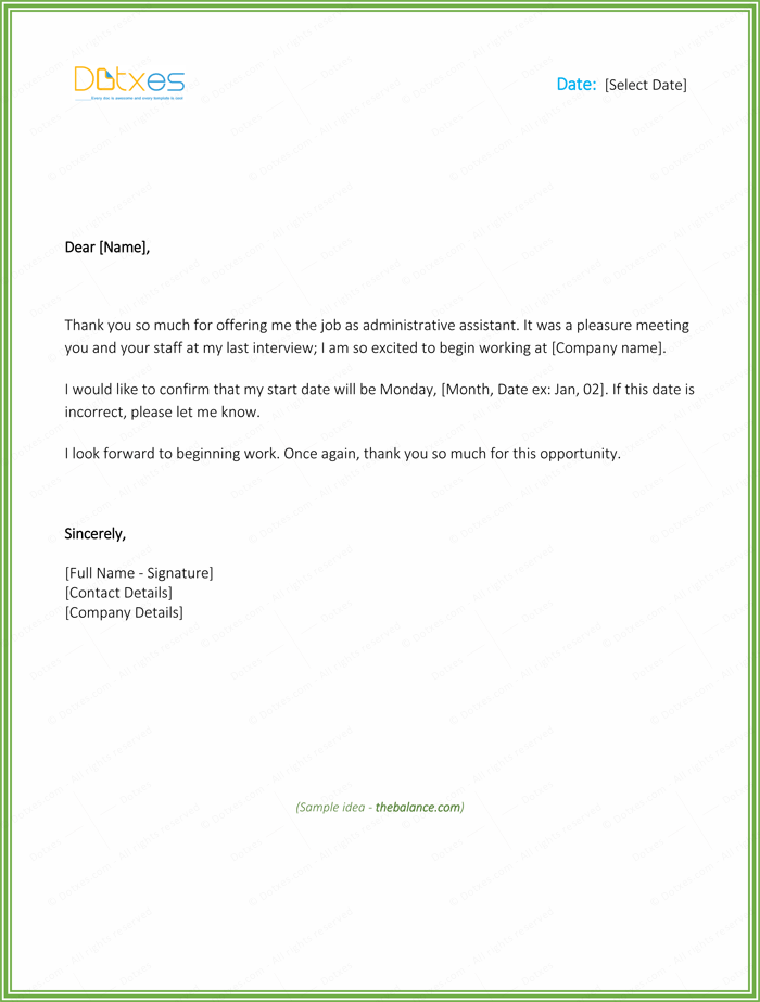 Thank You Letter For Job Offer Download Free Samples