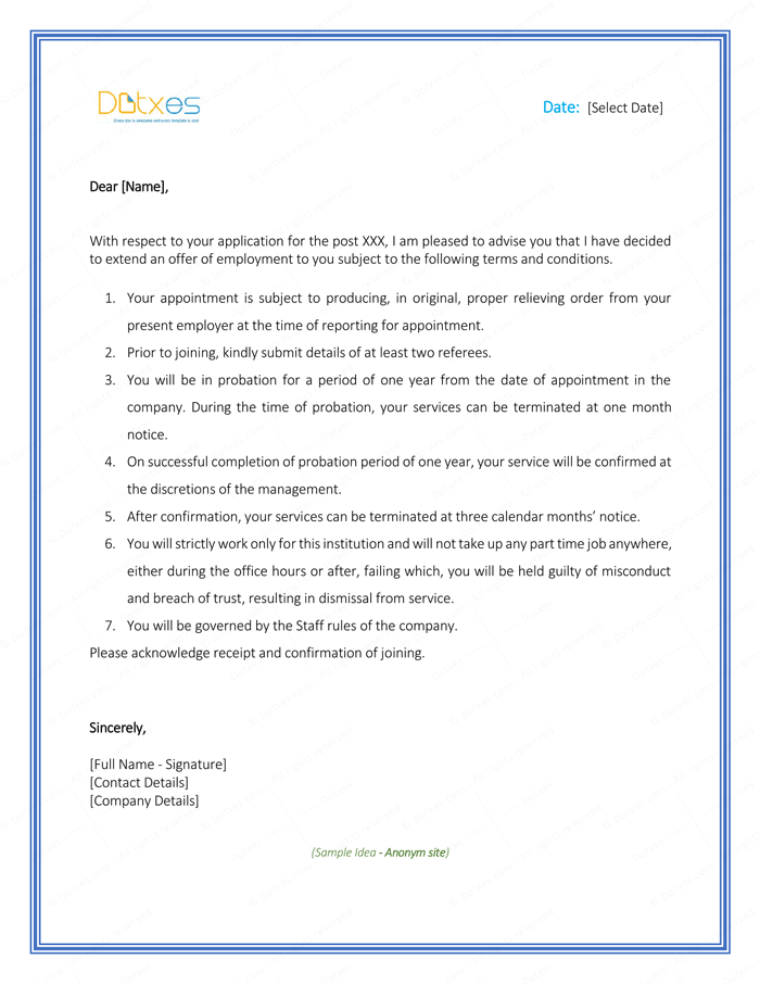 5 Appointment Letter Formats Amp Samples For Word