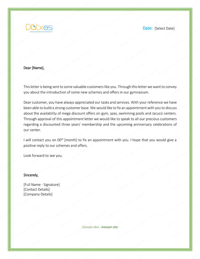 5  appointment letter formats  u0026 samples for word
