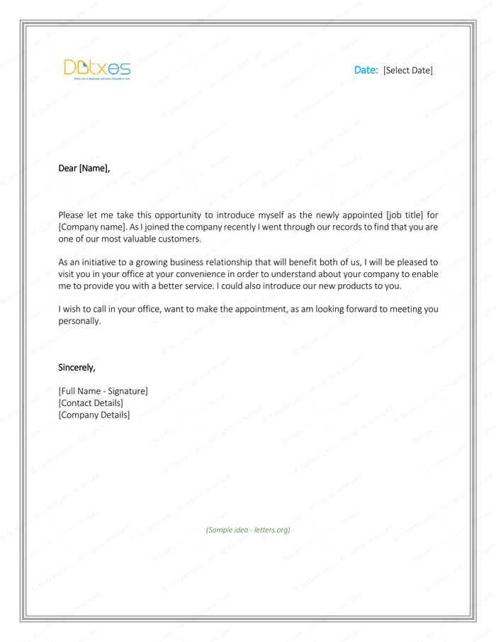 Letter of Introduction for Yourself