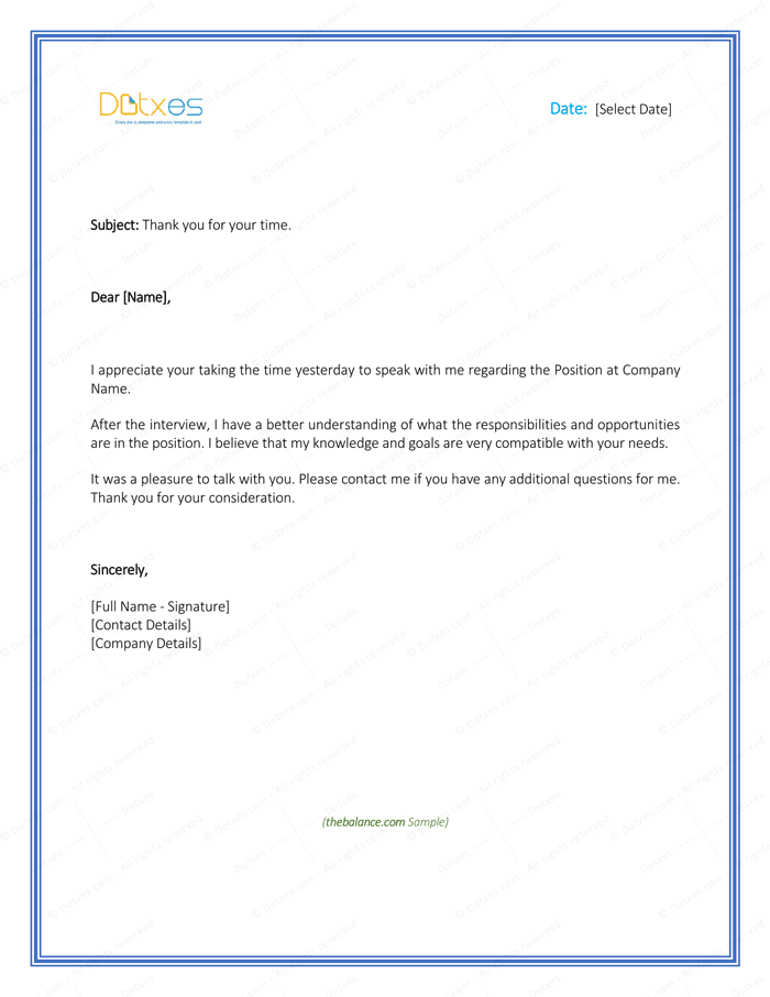 sample thank you letter after interview best of sample thank you letter after cover 35137