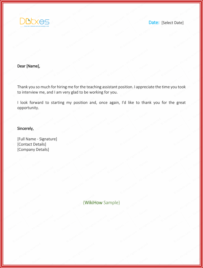 Thank you letter after teaching job offer cover letter job thank you letter spiritdancerdesigns Images
