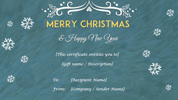 Christmas Gift Certificate (Fluffy BG)