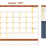 January 2017 Calendar with Holidays