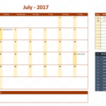 July 2017 Calendar with Holidays