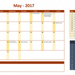May 2017 Calendar with Holidays