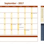 September 2017 Calendar with Holidays