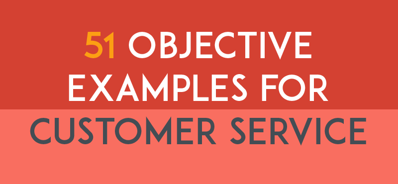 51 Resume Objective Examples For Customer Service  Resume Objective For Customer Service