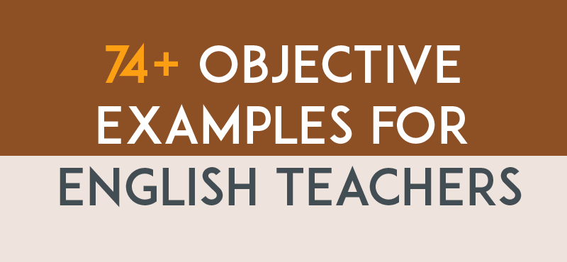 Objective Examples for English Teachers