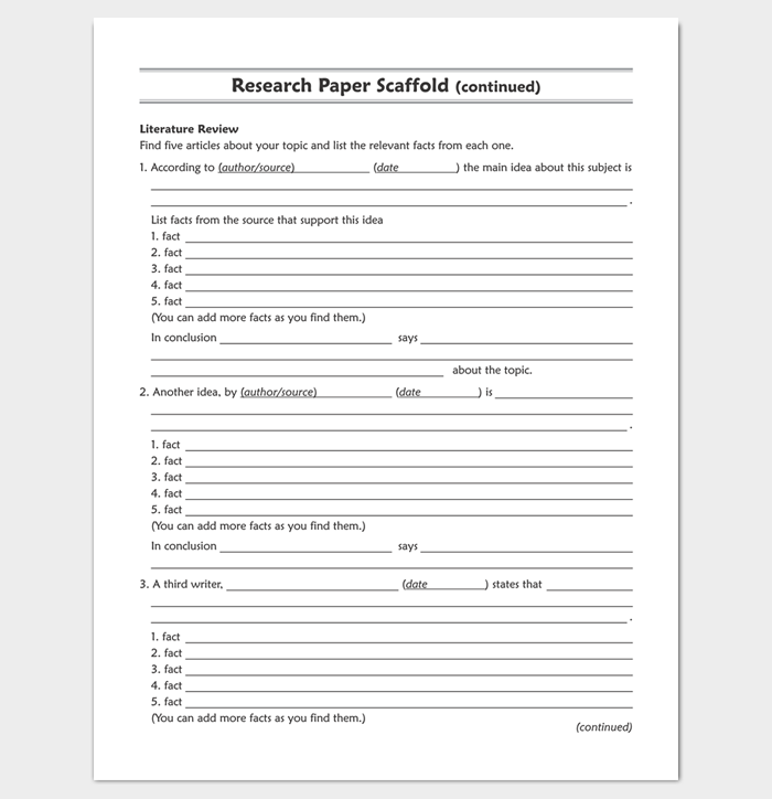 Research outline template 20 formats examples and samples for Blank apa format template