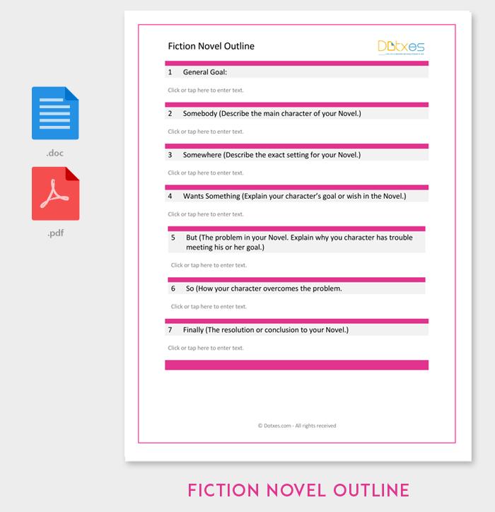 Fiction Novel Outline Template