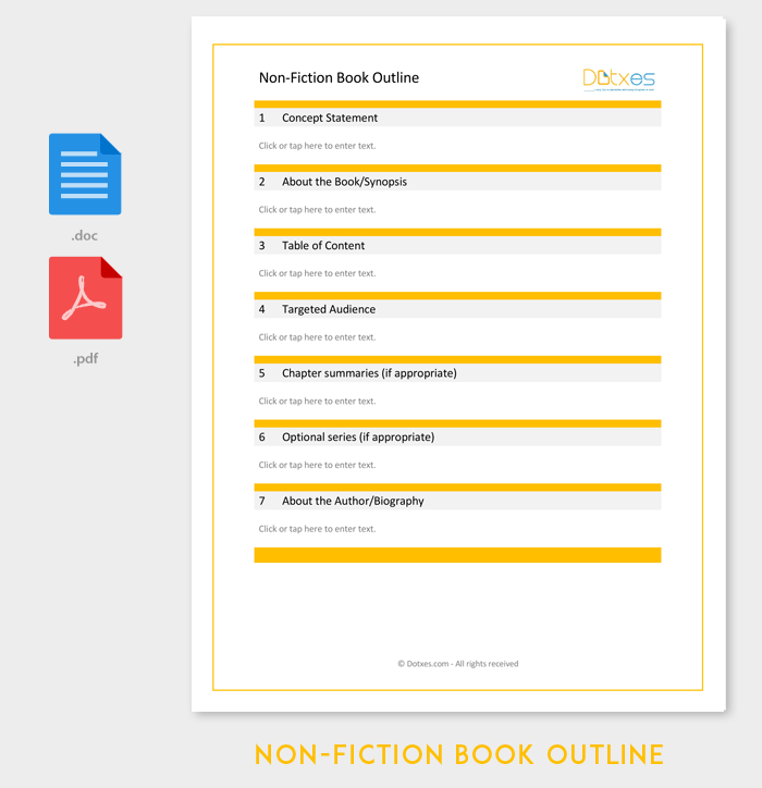 non fiction book outline template 5 for word pdf format dotxes