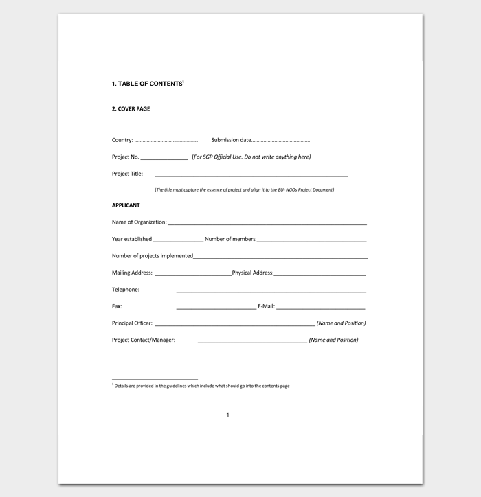 Project Outline Template 15 Sample Example Format Dotxes